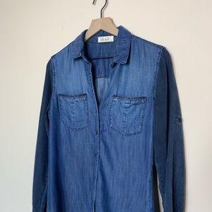 Bella Dahl Tops - Bella Dahl Chambray Tonal Button Down Shirt Size S